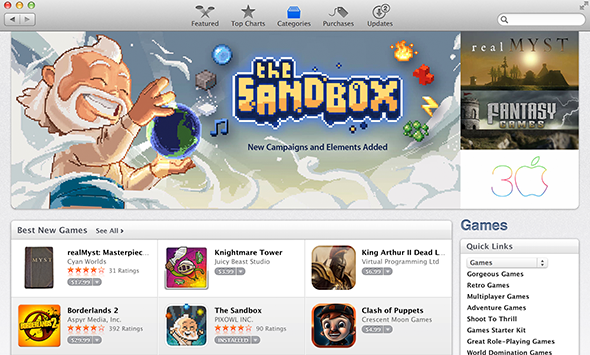 The Sandbox featured on Mac App Store | Pixowl – Mobile Games Studio